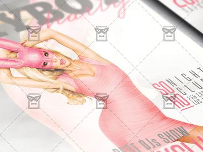 Playboy Party Flyer - Club A5 Template