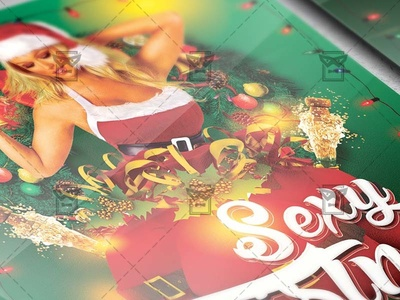 Christmas Sexy Party Flyer - Seasonal A5 Template