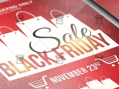 Black Friday 2019 Flyer - Business A5 Template