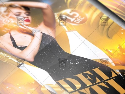 Models and Bottles Night Flyer - Club A5 Template