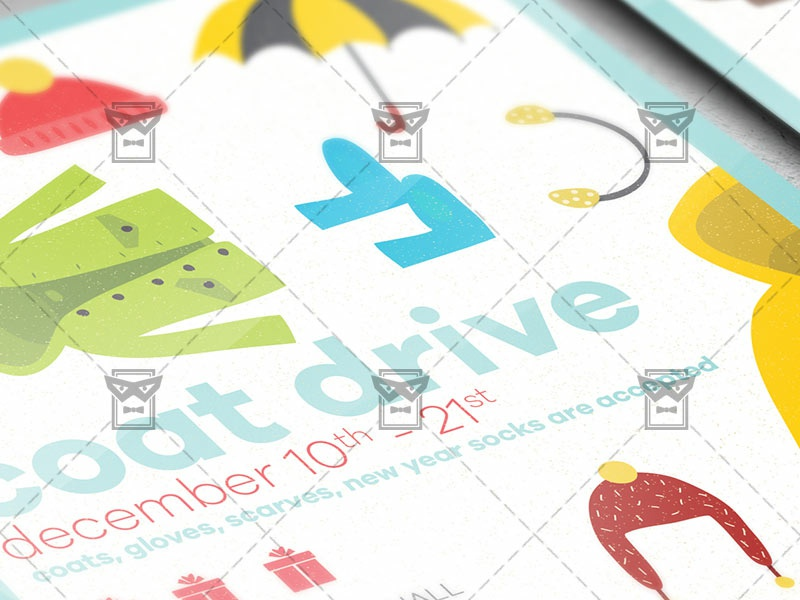 coat drive flyer community a5 template by exclusive flyer