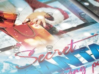 Secret Santa Party Flyer - Community A5 Template