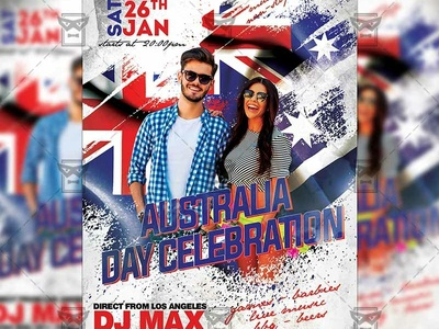 Australia Day Celebration Party Flyer - Community A5 Template