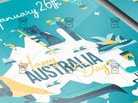 Happy Australia Day Flyer - Seasonal A5 Template
