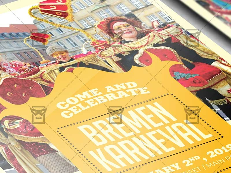 Bremen Karneval Flyer Community A5 Template By Exclusive Flyer