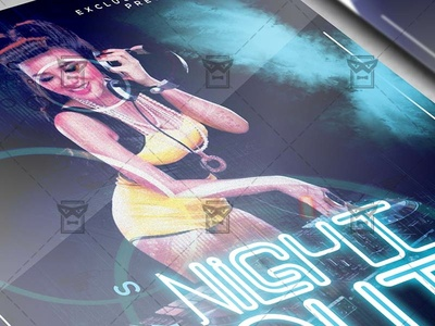 Boys Night Out Flyer - Club A5 Template