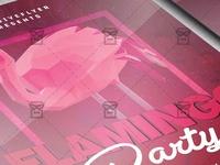 Flamingo Night Flyer - Club A5 Template