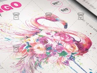 Flamingo Party Flyer - Club A5 Template