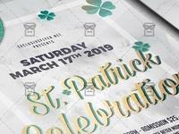 Saint Patrick Celebration Flyer - Seasonal A5 Template