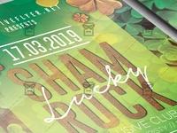 Lucky Shamrock Night Flyer - Seasonal A5 Template