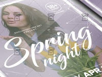 Spring Night Flyer - Seasonal A5 Template