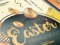 Happy Easter Celebration 2019 Flyer - Seasonal A5 Template