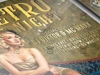 Retro Night Party Flyer - Club A5 Template