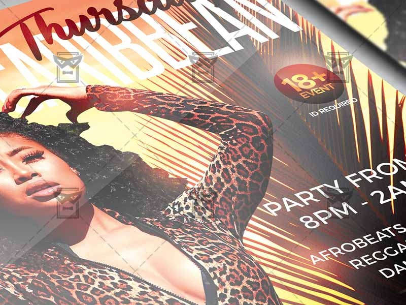 Afro Caribbean Thursdays Flyer - Club A5 Template By Exclusive