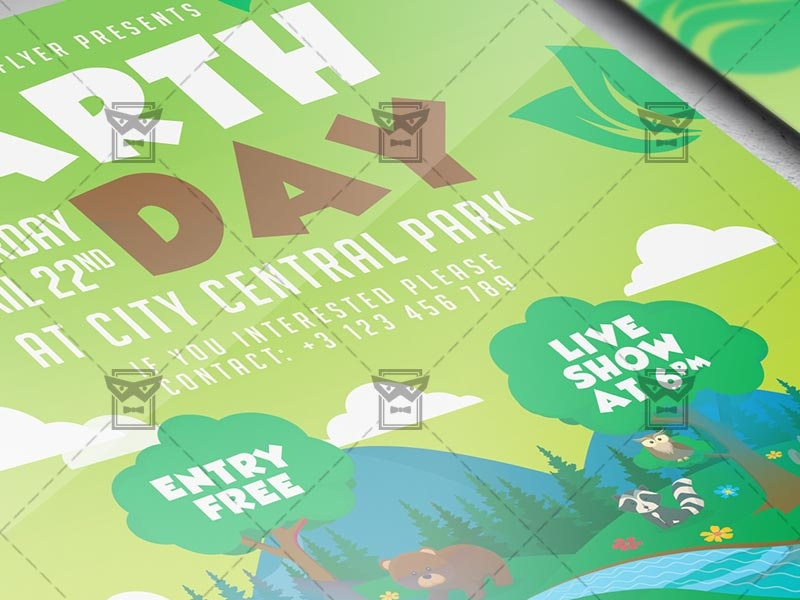 Mother Earth Day Celebration Flyer - Seasonal A5 Template nature flyer save planet mother earth day earth day design earth day poster earth day flyer