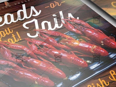 Massive Crawfish Boil Flyer - Food A5 Template