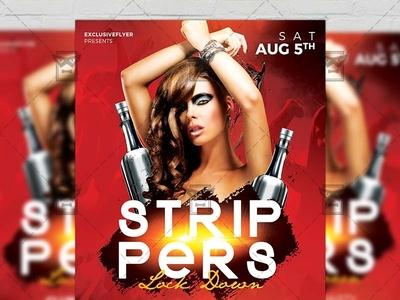 Strippers Lock Down - Club A5 Template