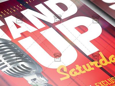 Stand Up Saturdays - Club A5 Template live night show stand up show comedy show stand up comedy flyer comedy flyer stand up flyer