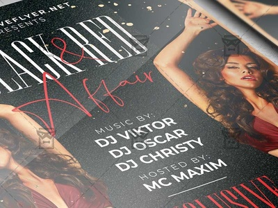 Black and Red Affair Flyer - Club A5 Template