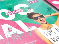 Social Fridays Affair Flyer - Club A5 Template