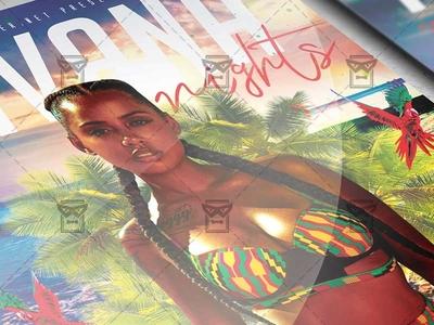 Havana Nights Flyer - Club A5 Template