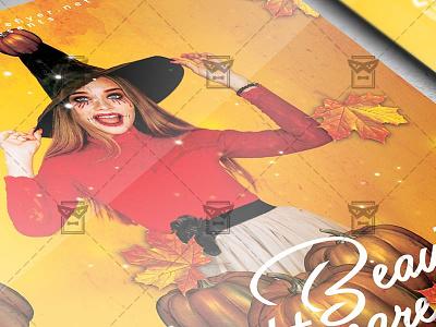 Beautiful Nightmare Flyer - Seasonal A5 Template halloween bash halloween affair scary night halloween club party halloween flyer design halloween party flyer halloween flyer beautifull nightmare party beautiful nightmare