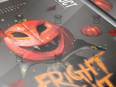 Fright Night Flyer - Seasonal A5 Template