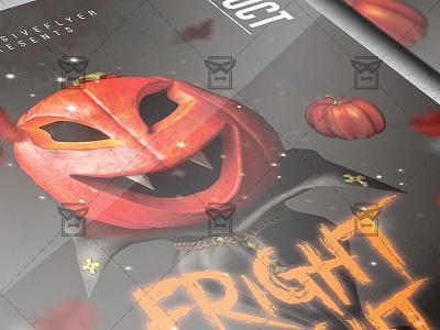 Fright Night Flyer - Seasonal A5 Template halloween bash halloween affair scary night halloween club party halloween flyer design halloween party flyer halloween flyer fright night party fright night flyer
