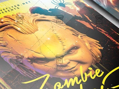 Zombie Bash Flyer - Seasonal A5 Template