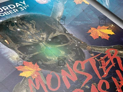 Monster Bash Flyer - Seasonal A5 Template halloween bash halloween affair scary night halloween club party halloween flyer design halloween party flyer halloween flyer fright night party fright night flyer monster bash flyer