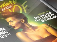 Reggae on the Roof Flyer - Club A5 Template