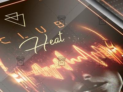 Club Heat Flyer - Club A5 Template