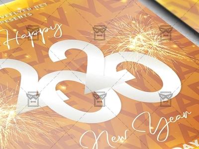 2020 New Year Celebration Flyer - Winter PSD Template