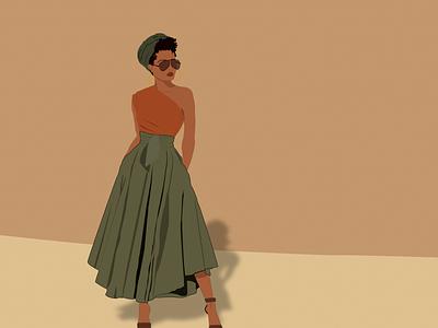 Turban vibes african woman illustrator digitalillustration digitaldrawing digitalart artprint adobe illustrator illustration graphicdesign draw design
