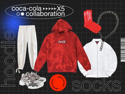 ELLE Girl collages for Coca-Cola & X5 package merch fashion collage