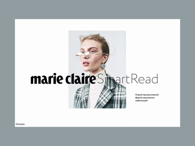 Marie Claire SmartRead / part 1 grid longread scroll ui presentation article readymag special project web webdesign