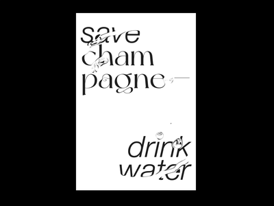 Save champagne — drink water! after effects waves animation water