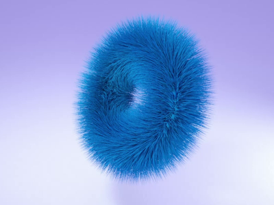 fluffy donut 3d hair motion animation donut cinema4d