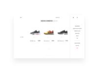 Nike site menu bar