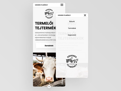 Mobil screen UI design for a growing Milkfarm company