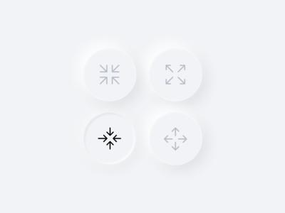 Skeuomorphic design buttons