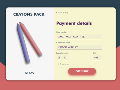 card checkout interface day2 dailyui