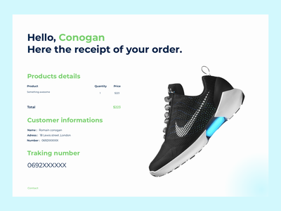Email receipt emailreceipt day17 dailyui