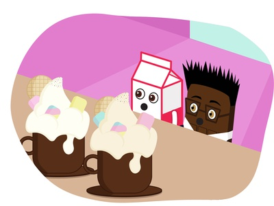 Dreaming a big cappuccino cappuccino kids illustration illustration character freshmilk mrmilk