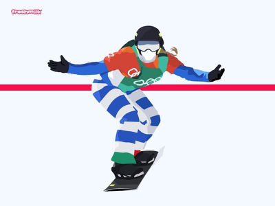 Michela Moioli olympics winter games snow adrenaline sport illustration girl power girl snowboard