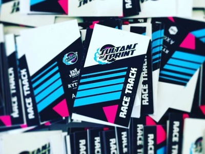 Sultans of Sprint // Race Track Badge