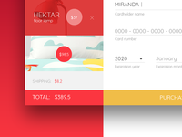 100 days UI challenge, day002: Credit Card Checkout