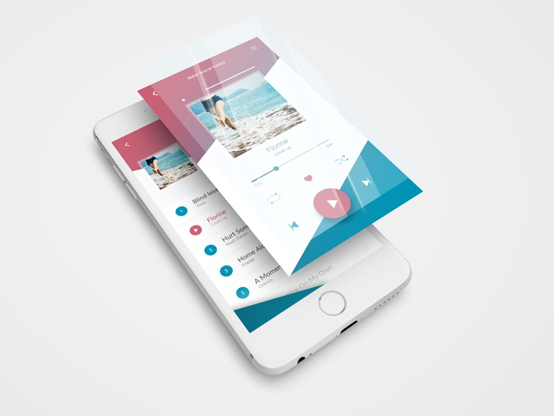 Day 009: music player #dailyui mobile design ui player music