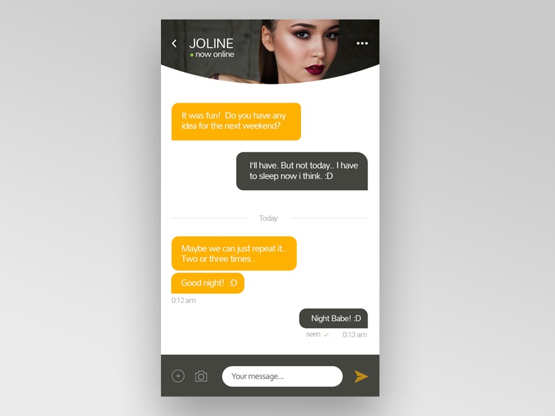 Day 013: Direct message #dailyui mobile flat 013 ui daily chat message direct