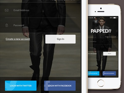 Papped In It - iOS7 Login Page